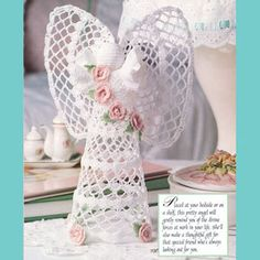 Bedside guardian-vintage crochet angel pattern in pdf от Vandihand Basic Crochet Stitches, Thread Crochet, Crochet Doilies, Crochet Flowers, Crochet Angel Pattern, Crochet Angels, Doily Patterns, Crochet Patterns, Crochet Decoration