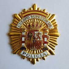 Placa del Cuerpo Superior de Policía.España.Spain