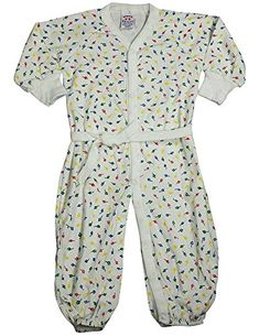 Saras Prints  Baby Girls Long Sleeved Converitble Coverall White Multi 671806Months -- You can find more details by visiting the image link.