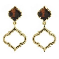 Fornash- The Cut-Out Tortoise Spade Earring