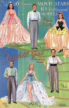 movie star paper dolls