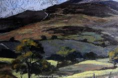 MaxSold - Auction: Whitby SELLER MANAGED Downsizing Online Auction - ITEM: Listed artist, Moira Huntley, Scottish Pastel artist and author of art books, original painting of Moel Frammon in Wales