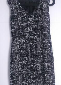 Kup mój przedmiot na #vintedpl http://www.vinted.pl/damska-odziez/krotkie-sukienki/13687242-czarno-biala-dopasowana-sukienka-olowkowa-elegancka-vila-m