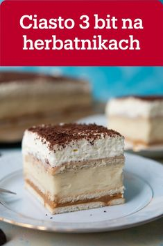 Pin On, Polish Recipes, Healthy Desserts, Tiramisu, Ale, Sweet Tooth, Cheesecake, Food And Drink, Cookies