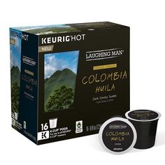 Keurig® K-Cup® Pod Laughing Man Columbia Huila Dark Roast Coffee - 16-pk., Multicolor