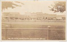 RP: Main Street shops seen from Railroad Depot , BLACKFOOT , Idaho , PU-1921 - Delcampe.com
