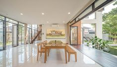 """A Tour Of The Amazing """"Lobster House"""" By Puchong Satirapipatkul Dining Room Design, Dining Area, Lobster House, Thai House, Tropical Architecture, Open Space Living, Loft House, Minimalist Decor, Home Kitchens"""