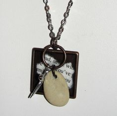 Rock Paper Scissors Necklace  silver chain by WhisperWillowDesignz, $20.00