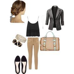 Black & beige, created by meitjie on Polyvore