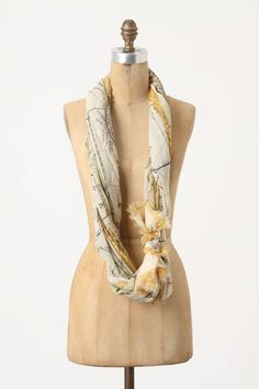 $250.00 Map of Europe Scarf