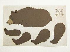Weiteres - Bastelbogen Bär - ein Designerstück von enna bei DaWanda