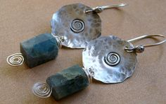 Droplets Earrings Aquamarine Sterling Silver by SharonPalac, $40.00