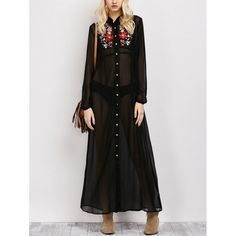 24.9$  Buy now - http://di4x2.justgood.pw/go.php?t=202554404 - Embroidered Maxi Sheer Shirt Dress