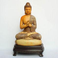 Vintage Chinese Shoushan Stone Sakyamuni Buddha Statue 中國 福建壽山石釋迦摩尼佛雕像