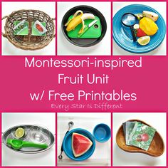 Every Star Is Different: Montessori-inspired Fruit Unit w/ Free Printables