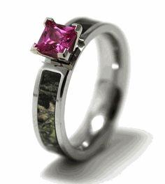 Ordinary Camo Engagement Rings - Pink Camo Wedding Rings With Diamond Pink Camo Wedding, Camo Wedding Bands, Cheap Wedding Rings, Wedding Rings For Women, Wedding Jewelry, Camouflage Wedding, Dream Wedding, Camo Engagement Rings, Morganite Engagement