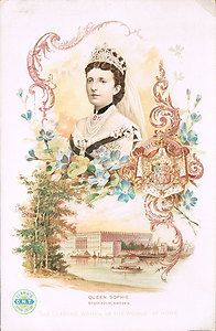 Queen Sophie Palace Stockholm Sweden Clark's Thread Leading Women of The World | eBay
