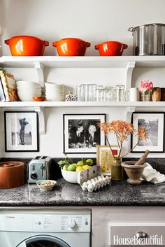 Home decor trends 2016 | Open Kitchen Shelving