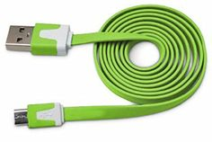 "myLife Irish Green {Solid Flat Noodle Design} 6' Feet (1.8 Meter) Quick Charge USB 2.0 Micro USB to USB Data Sync Cord for Phones, Cameras, Tablets and GPS Devices ""SEE COMPATIBILITY"" (Durable Rubber Coat) myLife Brand Products http://www.amazon.com/dp/B00O8233Y6/ref=cm_sw_r_pi_dp_gQ-tub1X75SVY"