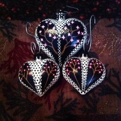 Cherry blossom hearts. #ornaments #decor #christmas