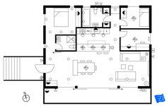 Lighting plan without wiring and switches. Click through to www.houseplanshelper.com for more on how to read an electrical plan and more on home design. Blueprint Symbols, Electrical Plan, Media Unit, Plan Drawing, Overhead Lighting, Exterior Lighting, How To Make Notes, Room Lights, Bedroom Lighting