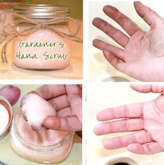 Hand scrub - kind of like MaryKay's Satin Hands...only cheaper! GREAT GIFT IDEA! - make, put in mason jar, tie with bow, add a tag!