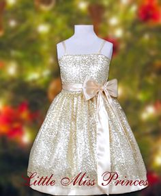 All that Glitters is Gold Christmas Dress(Girls Christmas Dresses)