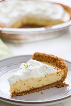 Classic Key Lime Pie A Tangy Chilled Custard Pie With Lime Juice Sweetened