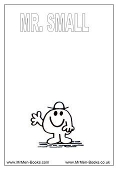 Mr Cheerful Colouring Page 130x175 Mr Men Colouring Pages school