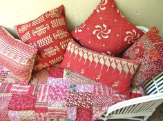Red Print Quilts from India @ Sally Campbell, Handmade Textiles - News