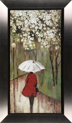 Spring Path I by Tina O. Framed Painting
