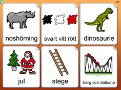 Widgit Go SE - Symbolbruket Learn Swedish, Swedish Language, Learning, Cards, Studying, Teaching, Maps, Playing Cards, Onderwijs