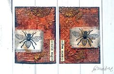 """My mixed media ATC set """"Create magic"""" in rusty look... Hello again!   Today I would like toinspire you mytwo latest mixed media ATC sets in rusty look,   made for ScrapArt.cz ...       ..."""