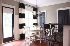 """The Yellow Cape Cod: Q and A~The Details On My Black Painted Doors - Interior Black Latex (Satin) """"Silhoutte"""" by Martha Stewart Painted Interior Doors, Black Interior Doors, Painted Doors, Interior Paint, Interior Design, Design Room, Room Interior, Dark Doors, Paint Colors For Home"""