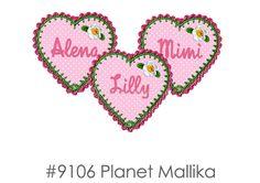 Bügelbild Herz von Planet Mallika auf DaWanda.com
