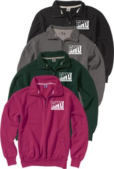 Product: Eastern Michigan University 1/4 Zip Pullover Sweatshirt 2x pink <3