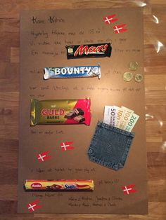 Billedresultat for fødselsdagsbilleder svigersøn Signs, Handicraft, Gifts For Mom, Birthday Cards, Diy And Crafts, Gift Wrapping, Homemade, Make It Yourself, Lettering