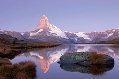 inch Photo Puzzle with 252 pieces. (other products available) - First morning light on Stellisee Lake overlooking Mt Matterhorn with reflections, Zermatt, Valais, Switzerland, Europe - Image supplied by Fine Art Storehouse - Jigsaw Puzzle made in the USA Zermatt, Morning Light, Morning Morning, Water Reflections, Swiss Alps, Mountain Landscape, Photographic Prints, Photo Mugs, Poster Size Prints