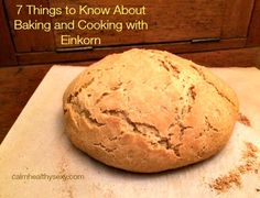 7 Things to Know About Baking and Cooking with Einkorn - Have you ever baked bread with the lower-gluten ancient wheat known as Einkorn?  If not, you could be in for a treat!  Here are 7 things to know about using Einkorn products in baking and cooking. #Einkorn #ancientwheat