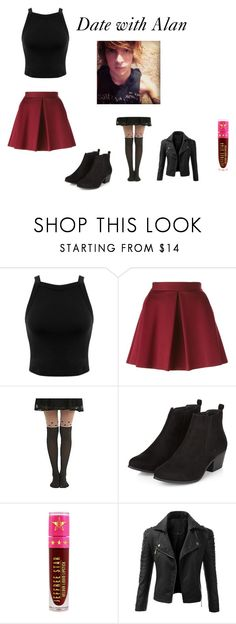 """""""Date with Alan Ashby"""" by alexiuszins on Polyvore featuring Miss Selfridge, P.A.R.O.S.H., Jeffree Star and Doublju"""