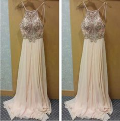 Bg135 Charming Prom Dress,Backless Prom Dress,Chiffon Prom Dress,Beading Crystal Prom Dress,Formal Evening Dress,Elegant Prom Gown,Pretty Women Party Dress