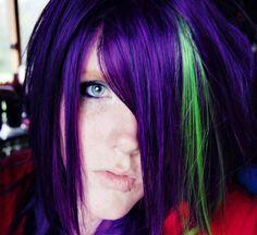 hair purple-lime