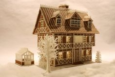 Ikea gingerbread house and greenhouse