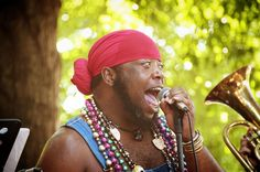 Independence Day celebration (2014) in Carrboro, NC... Singing New Orleans-style music.