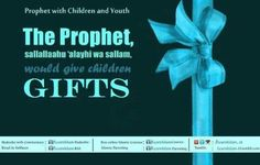 43. The Prophet S.A.W. would give children gifts  Gifts leave a deep effect on hearts and have a great impact on them, more so in the case of children. This is why the Prophet of Allah, sallallaahu 'alayhi wa sallam, used to give children gifts.  www.fb.com/LearnIslam.Parenting Preparing For Ramadan, May We All, Prophet Muhammad, Soul Food, Gifts For Kids, Allah, Believe, Youth, Hearts
