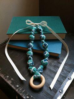 Nursing Necklace,Teething necklace, Babywearing Necklace,chew beads, Breastfeeding Necklace -Style: Emma Grace $18