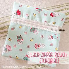 DIY Lace Zipper Pouch
