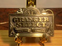 Granger Select Pinkerton Tobacco Company Brass Belt Buckle 1988 by IZZYSCollectibles on Etsy