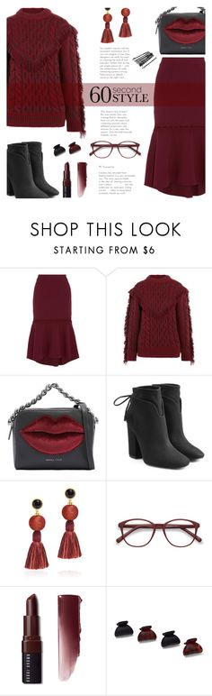 """60-Second Style: Work Wear"" by rasa-j ❤ liked on Polyvore featuring Rebecca Vallance, Alanui, Kendall + Kylie, Lizzie Fortunato, EyeBuyDirect.com, Bobbi Brown Cosmetics, New York & Company, WorkWear and 60secondstyle"