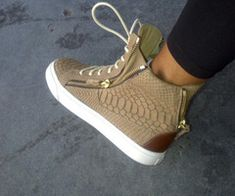 These are HOT! They remind me of Air Force 1s but they're Guiseppe Zanotti. He-llo.